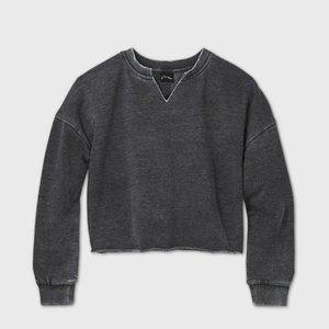 NWT Girl's Cut Out V Neck Sweatshirt